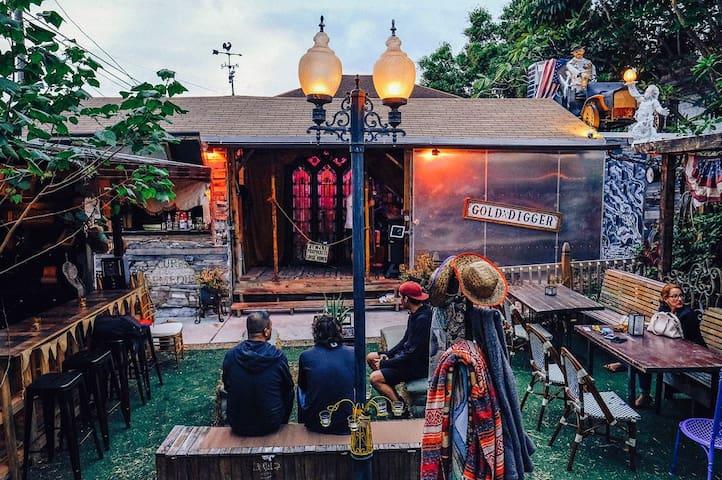 Inside Saloon patio