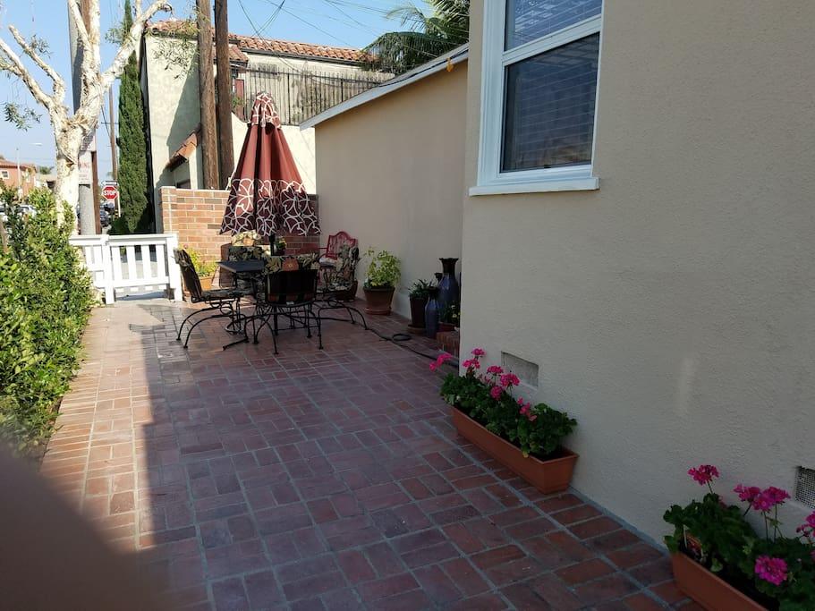 Side yard & patio