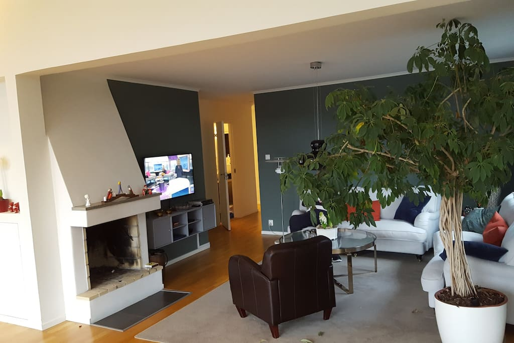 Part of living room with TV