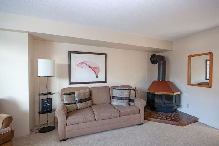 Cozy up next to the woodstove during the chilly winter months