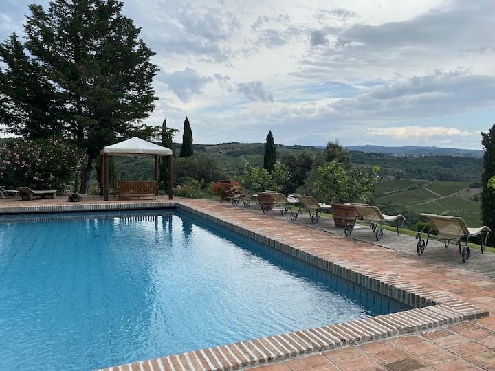Villa L'Orcio nel cuore di Greve in Chianti