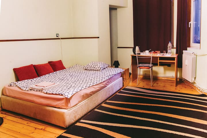 In the heart of Sofia, large bedroom in cozy flat