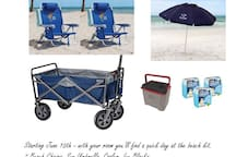 Just ordered and will be added to each room starting June 15th. Sea Street Beach is a 5-10 minute walk from your room.
