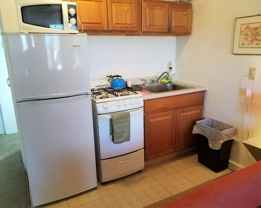 The kitchenette has everything you need.
