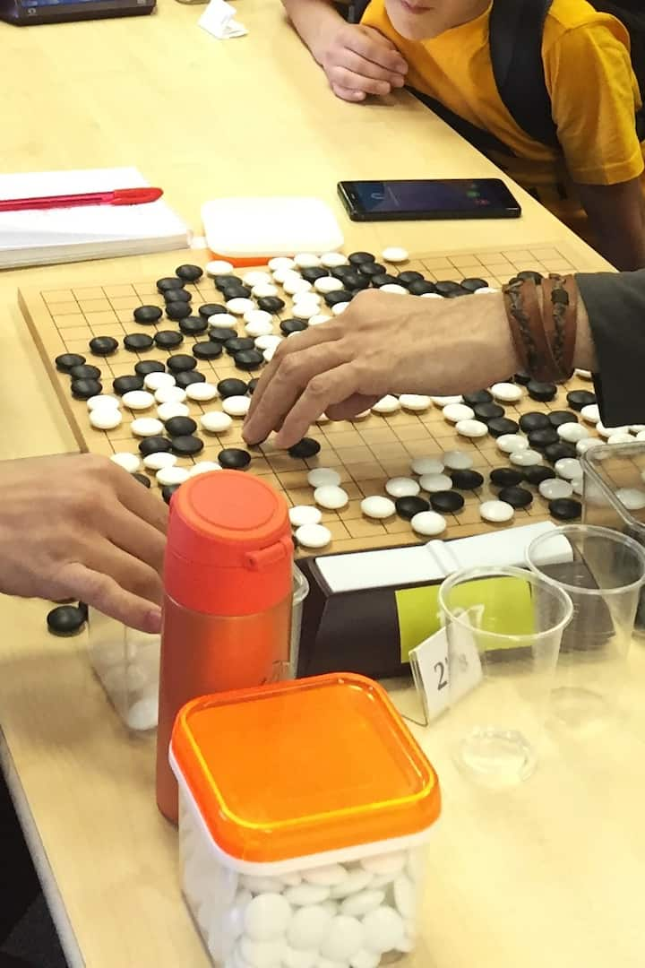 People playing Go
