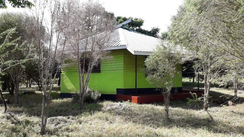 An exclusive farm cabin.