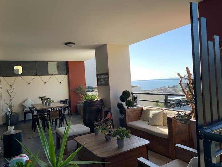 Appartement Bastia T3 vue mer grande terrasse