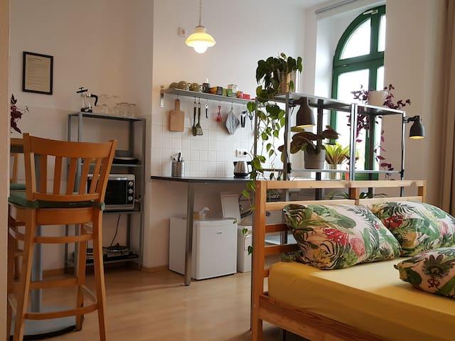 PLAGWITZ: Komfortables Studio direkt am Kanal