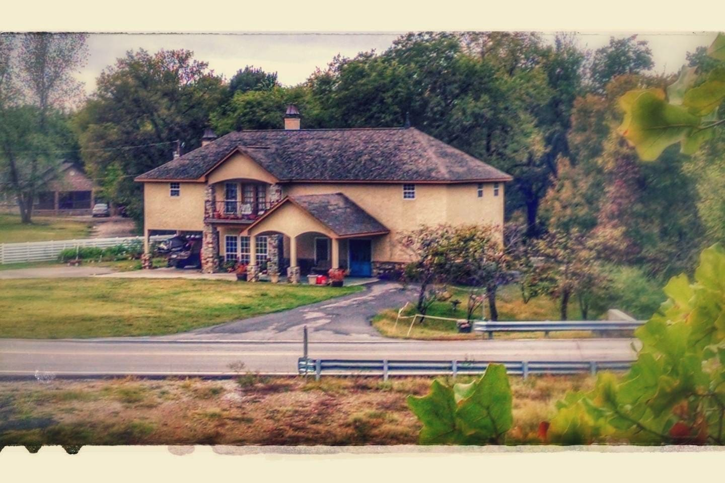This is our home, my family built it when i was a teenager and Laura and I were married in the big backyard!