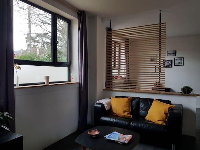Loft cosy (35 m2) avec jardin aux portes de Genève
