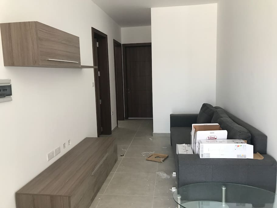 Living Area with TV and WiFi