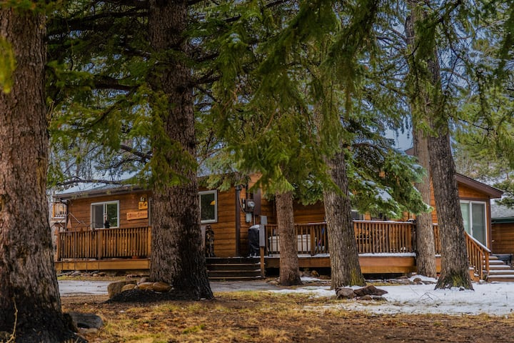 RIVERSIDE 3BR CABIN - HOT TUB, WALK DOWNTOWN