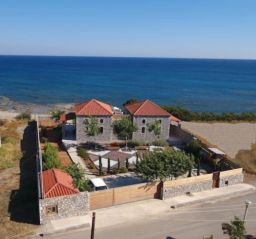 Beachfront villa with panoramic sea view
