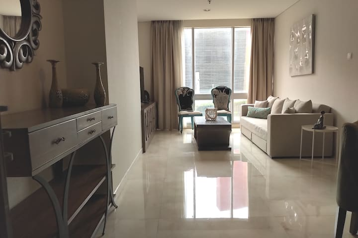Spacious 2 BR apartment in Kuningan, Jakarta