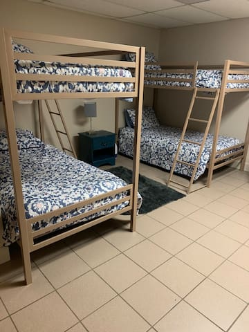 Third bedroom, two sets of bunk beds.
