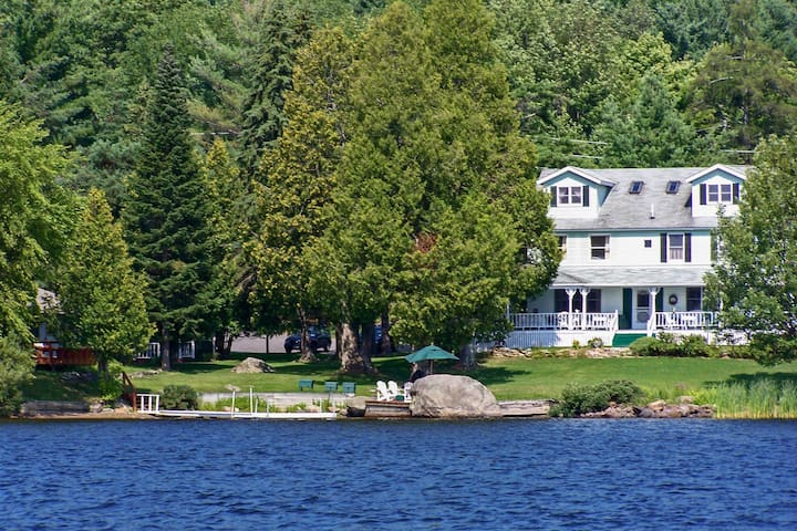 3-Home Property w/2 Docks on Lower Chateaugay Lake