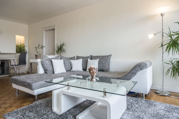 Sunny, safe, park side, flexible check in/out - Etterbeek - Appartement