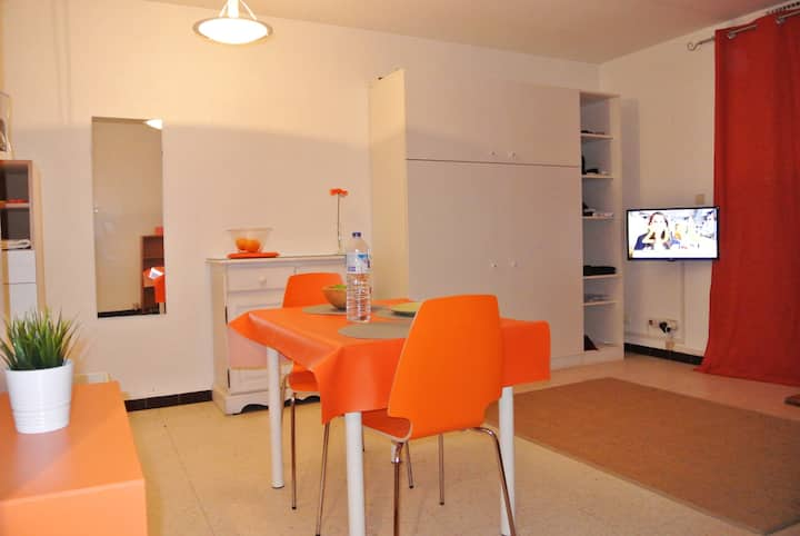 Grand Studio+Parking. Palavas. 2 adultes+2 enfants
