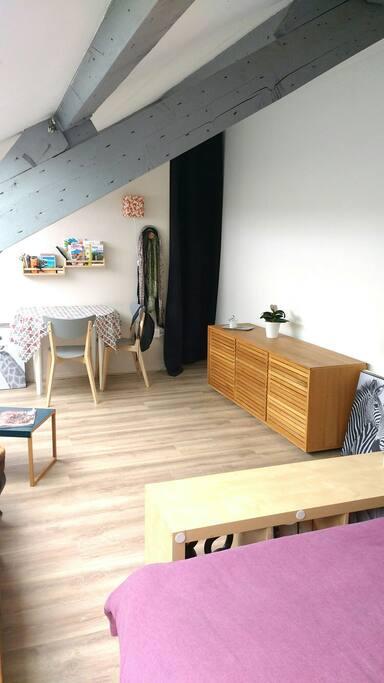 Studio atypique calme et lumineux appartements louer for Appartement atypique 66