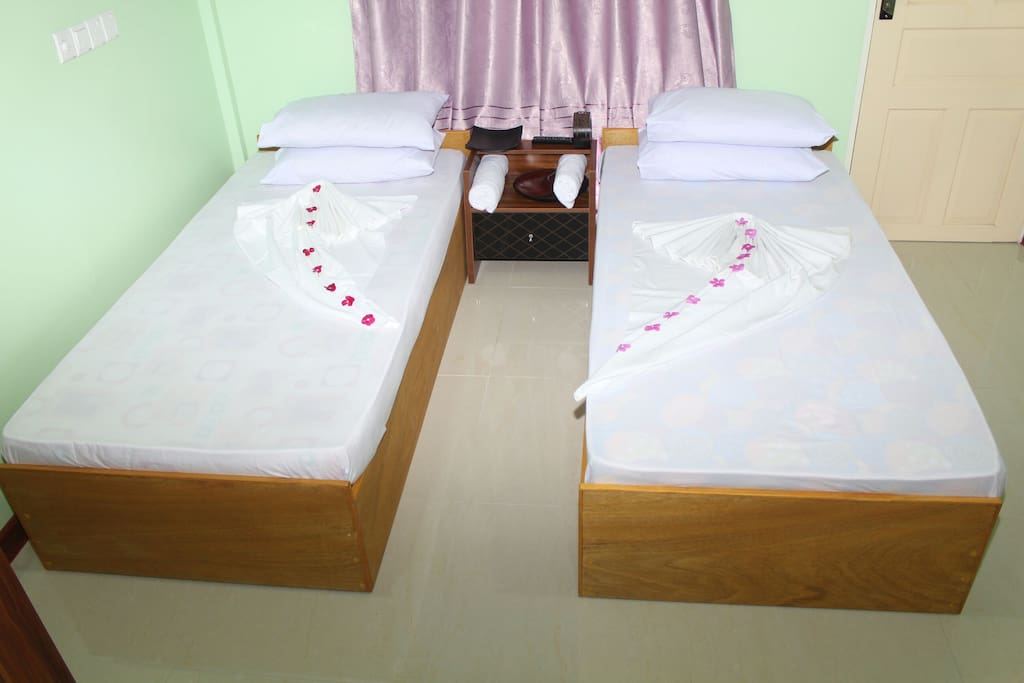 Twin bed sharing accommodation