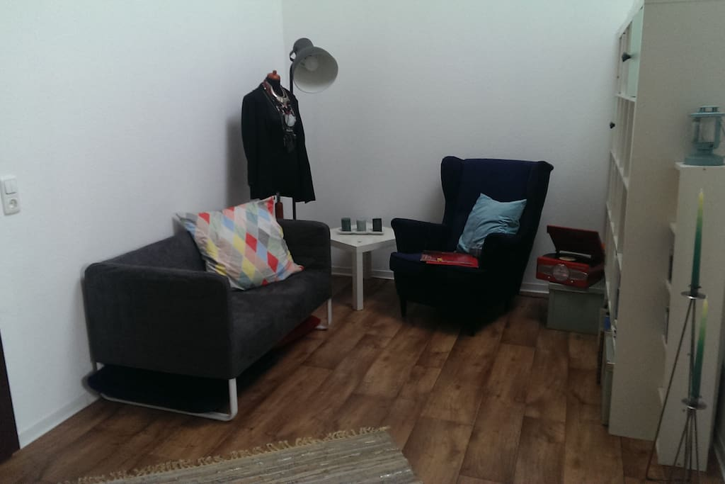 Wohnzimmer inkl. Hängematte, die leider nicht im Bild sein konnte :)