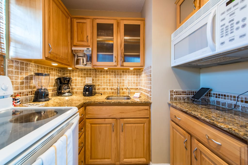 Enjoy all the modern appliances in this cozy and upgraded kitchen.