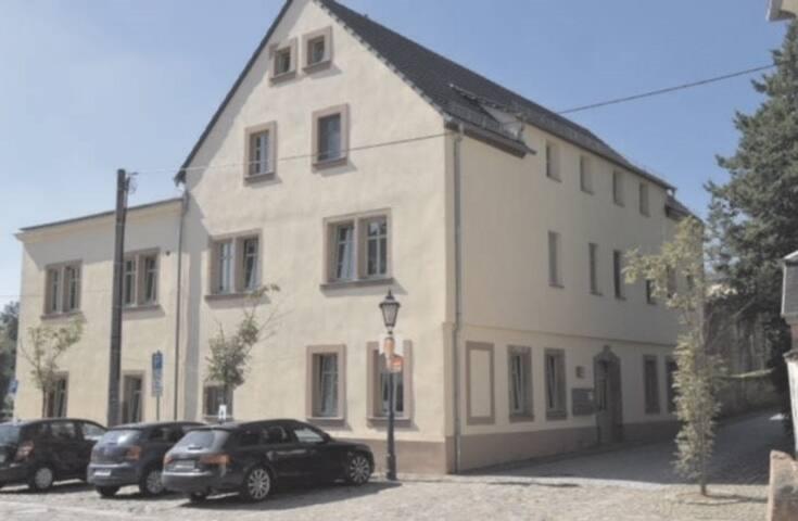 Ferienwohnung am Schloss Rochlitz, Blick auf Mulde
