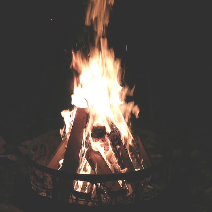 Bonfire at night, vacation must. Please adhere to Fire Rating law.