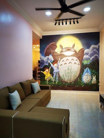 Bidor Totoro and One piece animation homestay