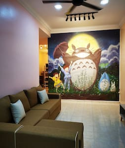Bidor Totoro and One piece animation homestay