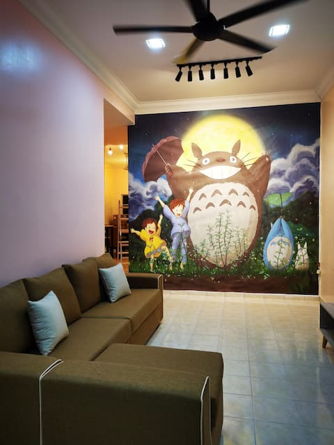 (1-12 persons) Bidor Totoro animation homestay
