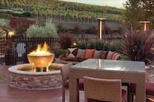 Relax by a fire pit