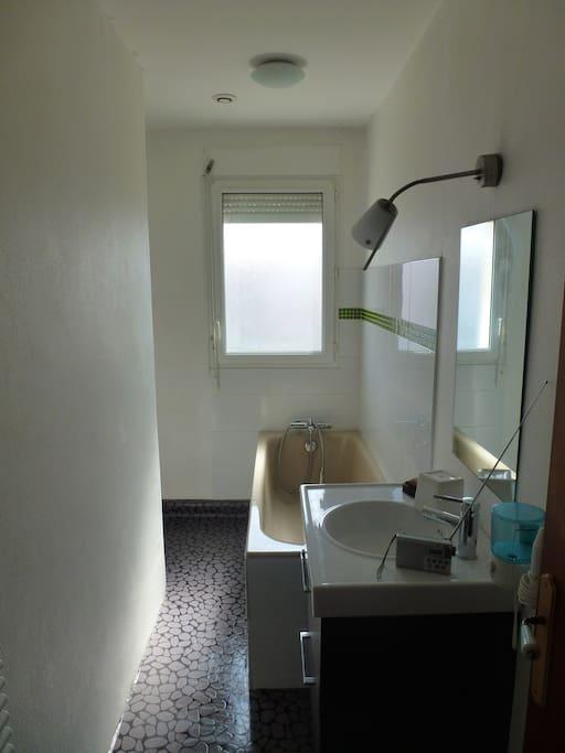 salle de bains (en face de la chambre) privative