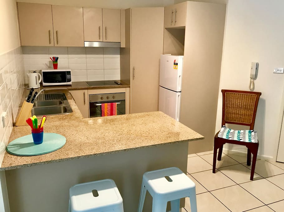 Kitchen with dishwasher and full cooking facilities