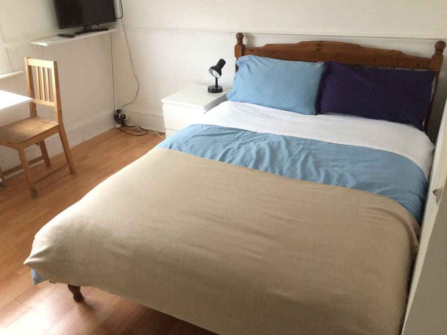 Double bed with Sheets