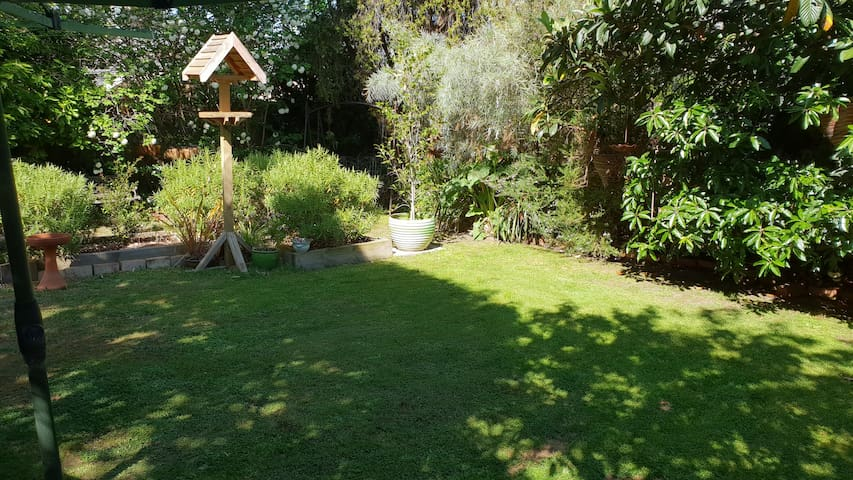 Enjoy the peaceful sunshine in the backgarden.