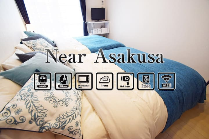 Op sale!40%off!5min to Asakusa /up to 4 ppl - Sumida-ku - Apartament