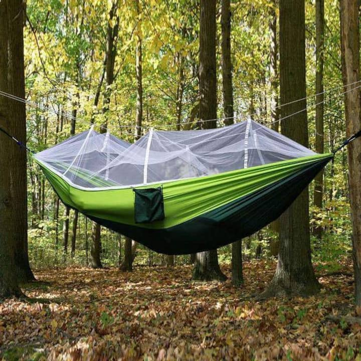 All-in-one hammock tent