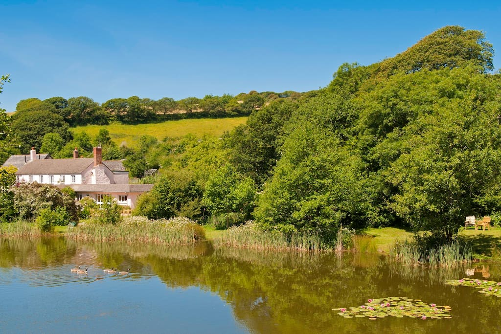 Idyllic valley location with no traffic sounds - just the water & wildlife