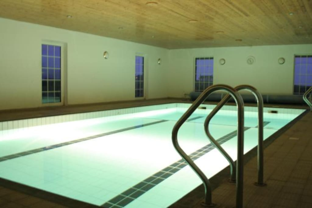 In door heated swimming pool