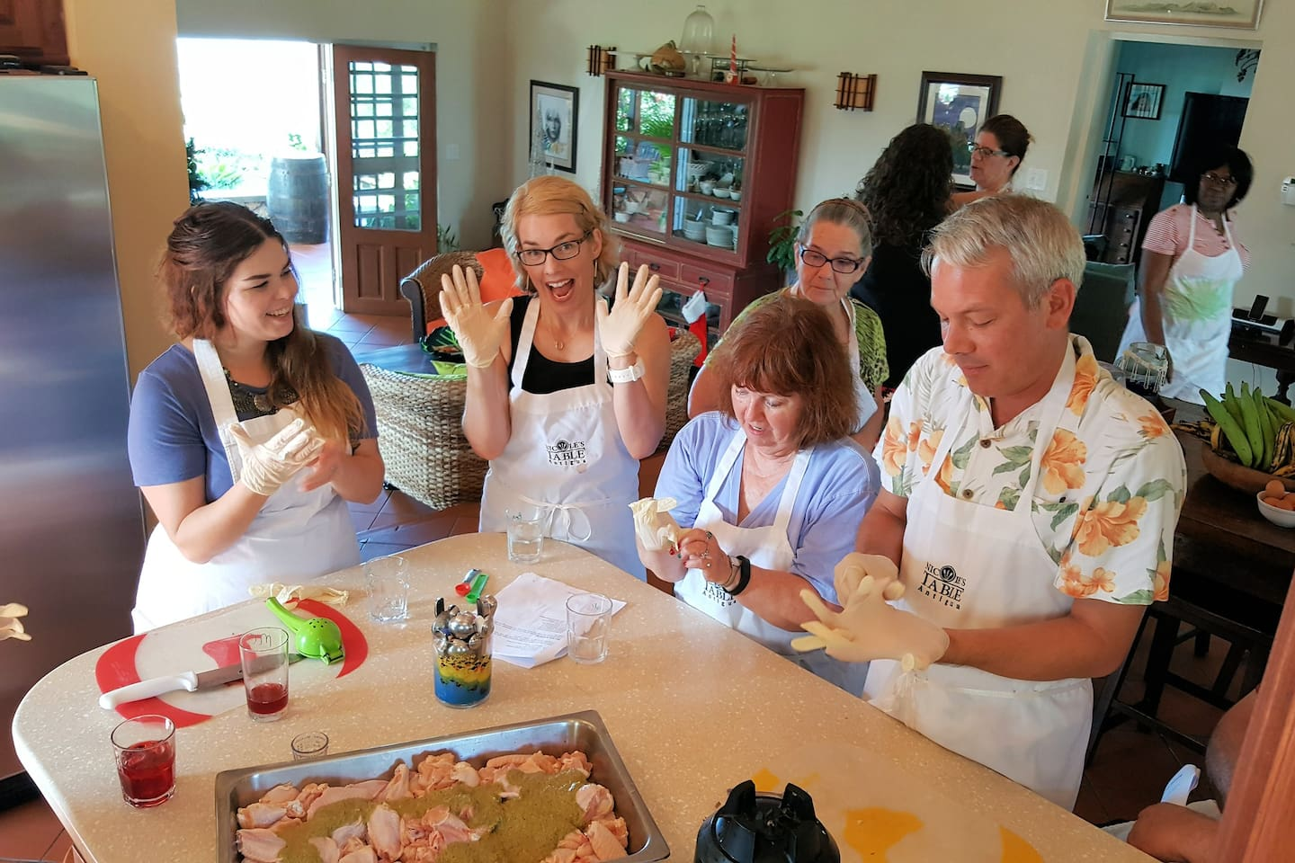 If you want to take a class or three, you will find them to be full of laughter, talk about local flavors and customs, history, and Caribbean stories!