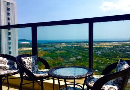 三亚市近海蜈支洲岛免税城亚特兰蒂斯恐龙公园超大阳台海景房
