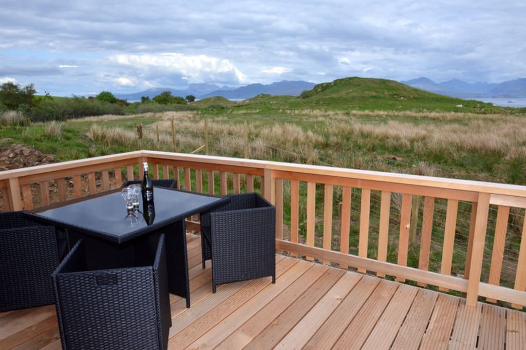 Gorgeous cedar decking for al fresco dining, and taking in the views!