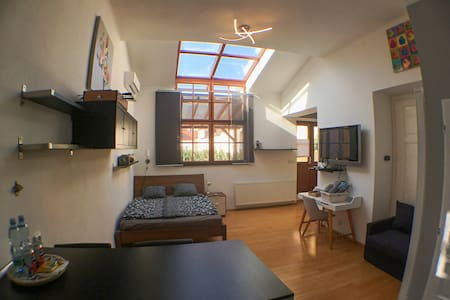Bright rooftop studio with huge terrace - Air-Con