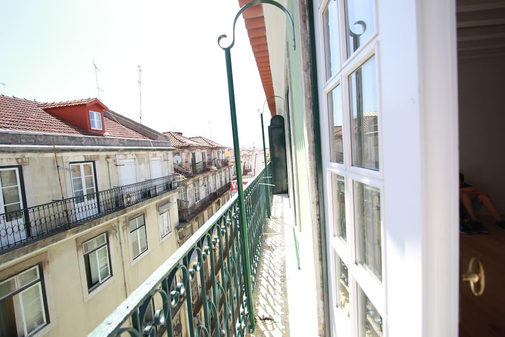 Balcony to historic center