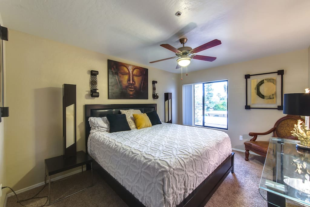 Spacious Master bedroom with brand new thick quality luxury mattress