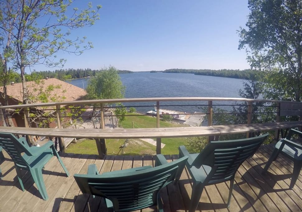 Front deck view of lake.