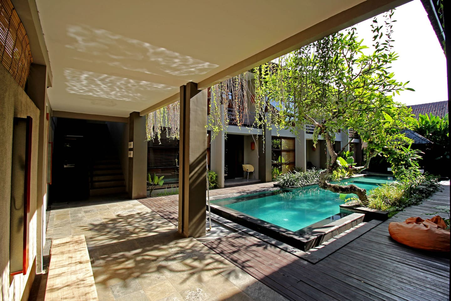 shared swimming pool and sitting area