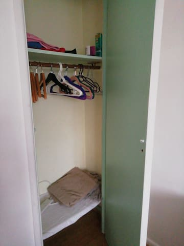 Storage cupboard in airbnb room