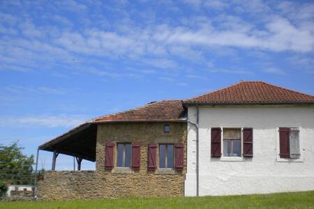 Ancienne Ecole Bed and Breakfast - Terrace Room - Cazaux-Villecomtal - Oda + Kahvaltı
